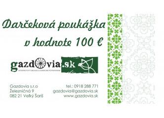 Darčekové poukážka v hodnote 100€