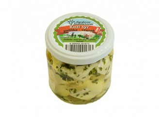 Nakladaný kravský syr - cesnakovo pažitkový 210ml