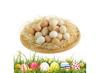 Domáce vajcia neroztriedené - 30ks
