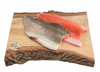 Pstruh lososovitý s kožou filet chladený 1kg