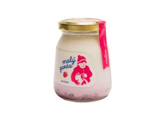 Kravský malinový jogurt 200g