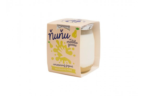 Ňuňu smotanový jogurt s hruškovo-jablkovým pyré 115 g