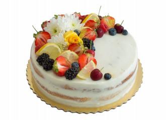Tvarohová torta s mascarpone a ovocím