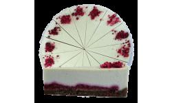 RAW torta z bielej čokolády s chia a malinami