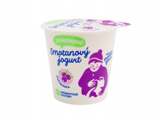 Jednoducho smotanový jogurt čučoriedka
