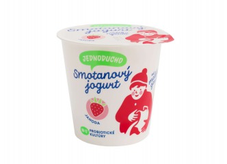 Jednoducho smotanový jogurt jahoda