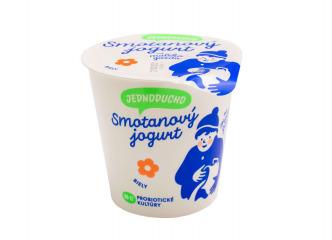 Jednoducho smotanový jogurt biely