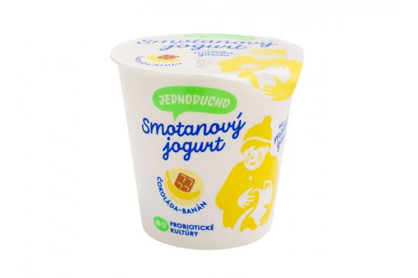 Jednoducho smotanový jogurt čokoláda - banán 140g