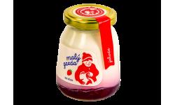 Jogurt bez éčok jahoda Malý gazda 200 g